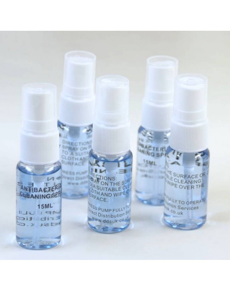 Anti-Bacterial Surface Cleaner, Pack of 5 x 15ml Personal Size