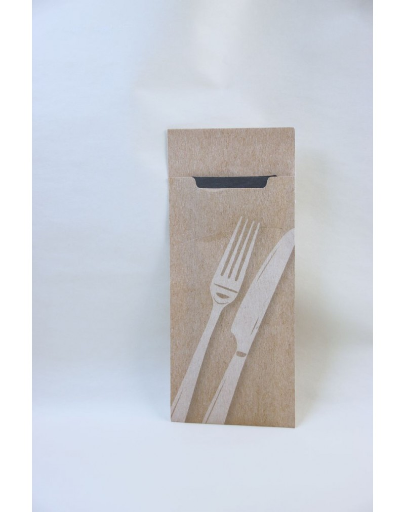 Cutlery Pouch Printed with Knife & Fork Design