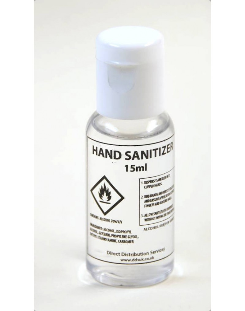 Hand Sanitiser Pack of 10 x 15ml Personal Size
