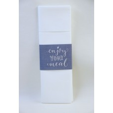 Printed Napkin Sleeve, Clear Message Design