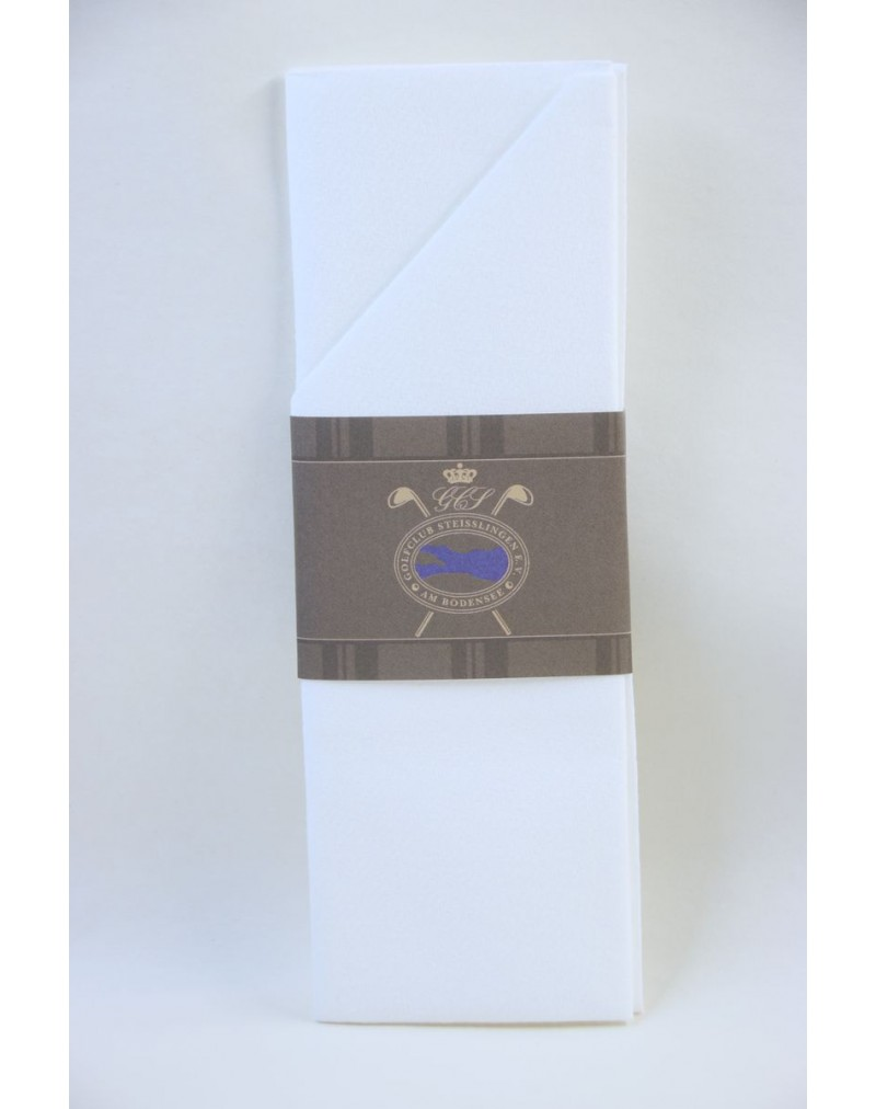 Printed Napkin Sleeve, Golf Theme Design